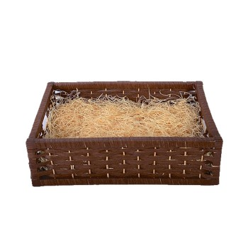 Empty Large Woven Wood Gift Basket