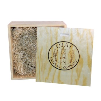 Empty Small Natural Wood Gift Box