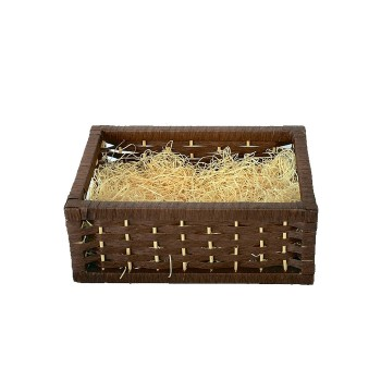 Empty Small Woven Wood Gift Basket