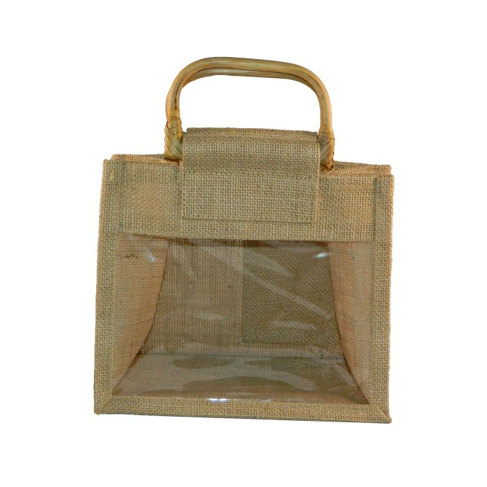 Wide Jute Gift Bag With Handle (Bag Only)
