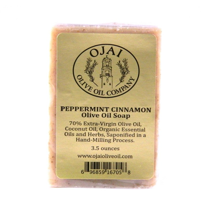 Peppermint Cinnamon Olive Oil Soap 3.5oz