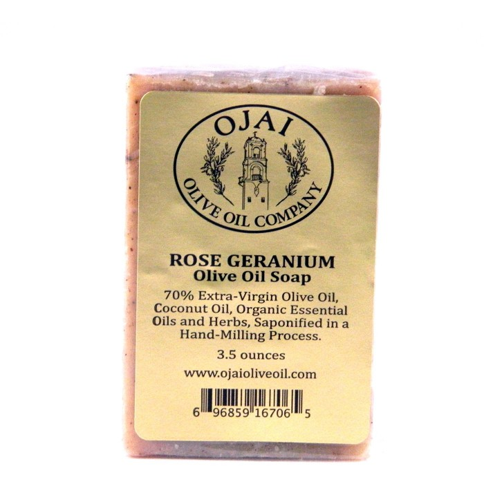 Rose Geranium Olive Oil Soap 3.5oz