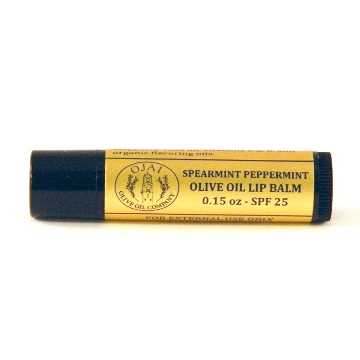 Spearmint Peppermint Olive Oil Lip Balm SPF 25 0.15oz